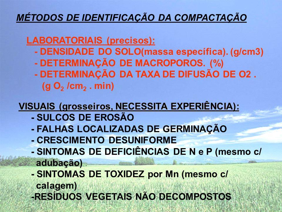 MÉTODOS DE IDENTIFICAÇÃO DA COMPACTAÇÃO LABORATORIAIS (precisos):