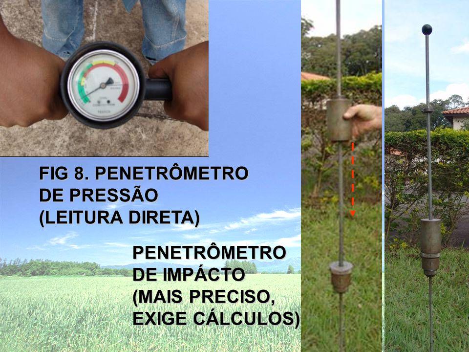 FIG 8. PENETRÔMETRO DE PRESSÃO. (LEITURA DIRETA) PENETRÔMETRO.