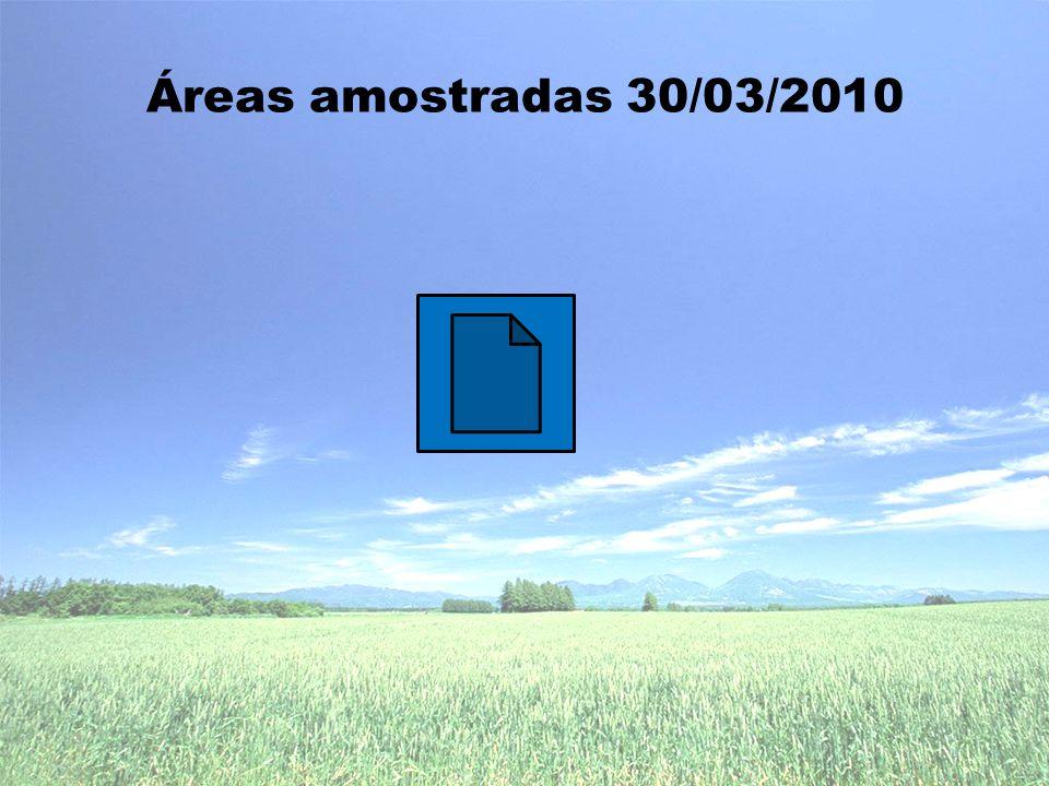 Áreas amostradas 30/03/2010