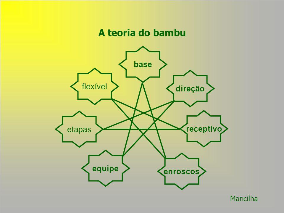 A teoria do bambu base flexível direção etapas receptivo equipe