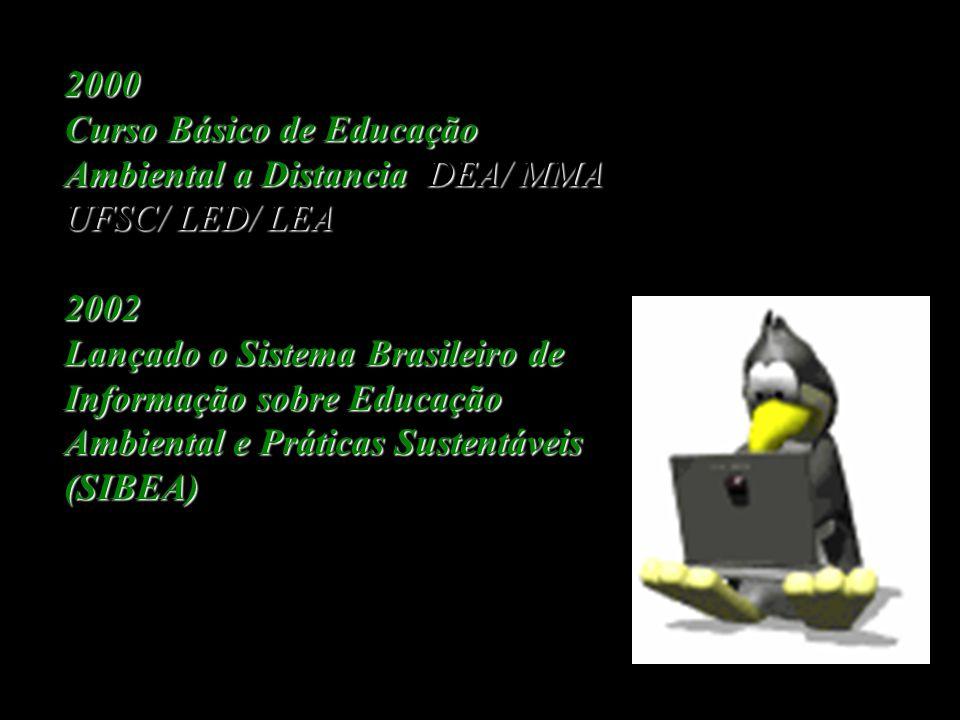 2000 Curso Básico de Educação Ambiental a Distancia DEA/ MMA UFSC/ LED/ LEA. 2002.