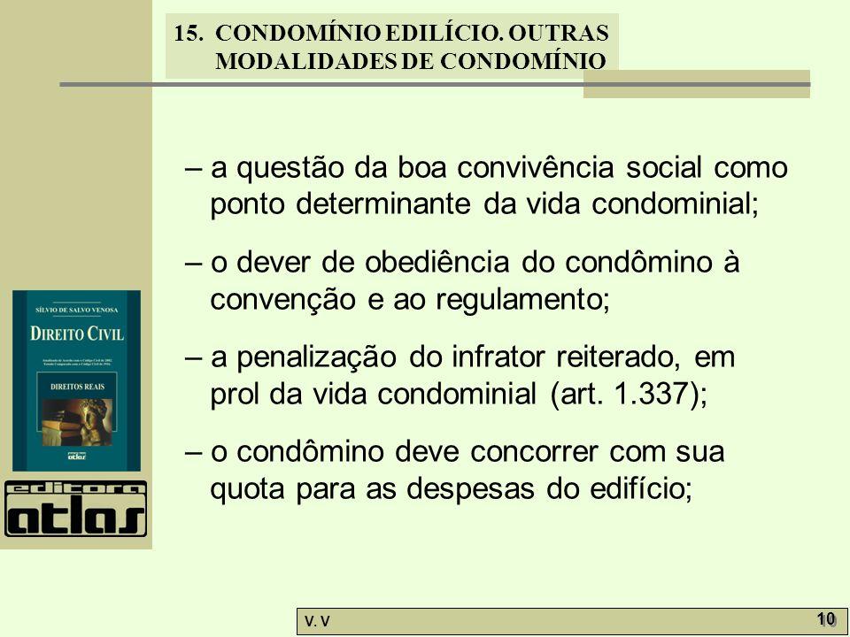 – a questão da boa convivência social como ponto determinante da vida condominial;