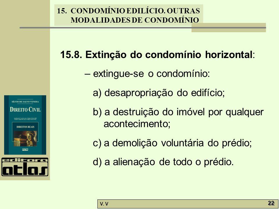 15.8. Extinção do condomínio horizontal: