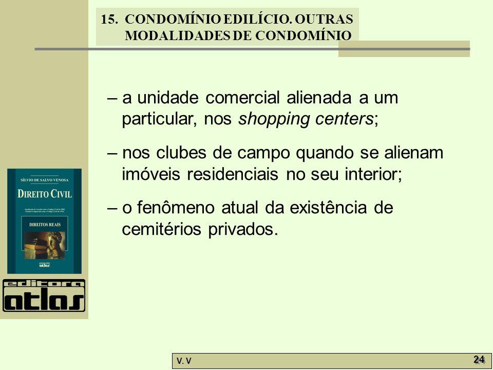 – a unidade comercial alienada a um particular, nos shopping centers;