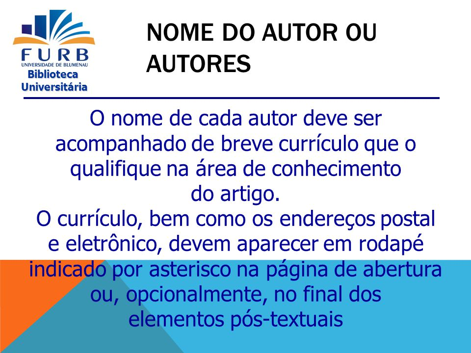 Nome do autor ou autores