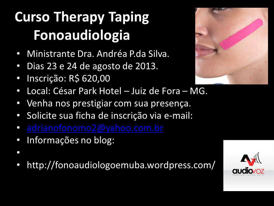 Curso Therapy Taping Fonoaudiologia