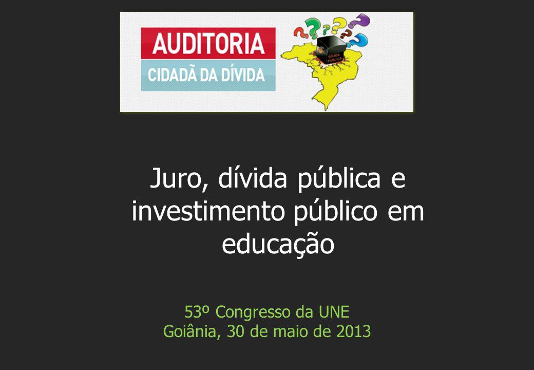 Juro, dívida pública e investimento público em educação