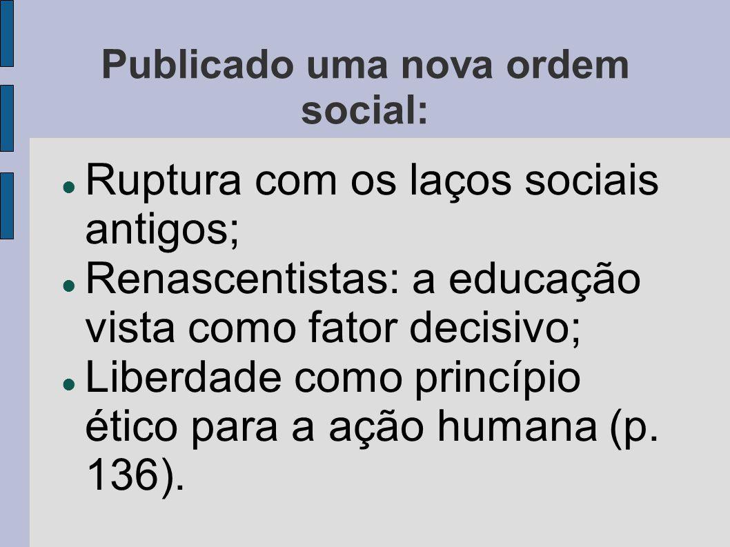 Publicado uma nova ordem social: