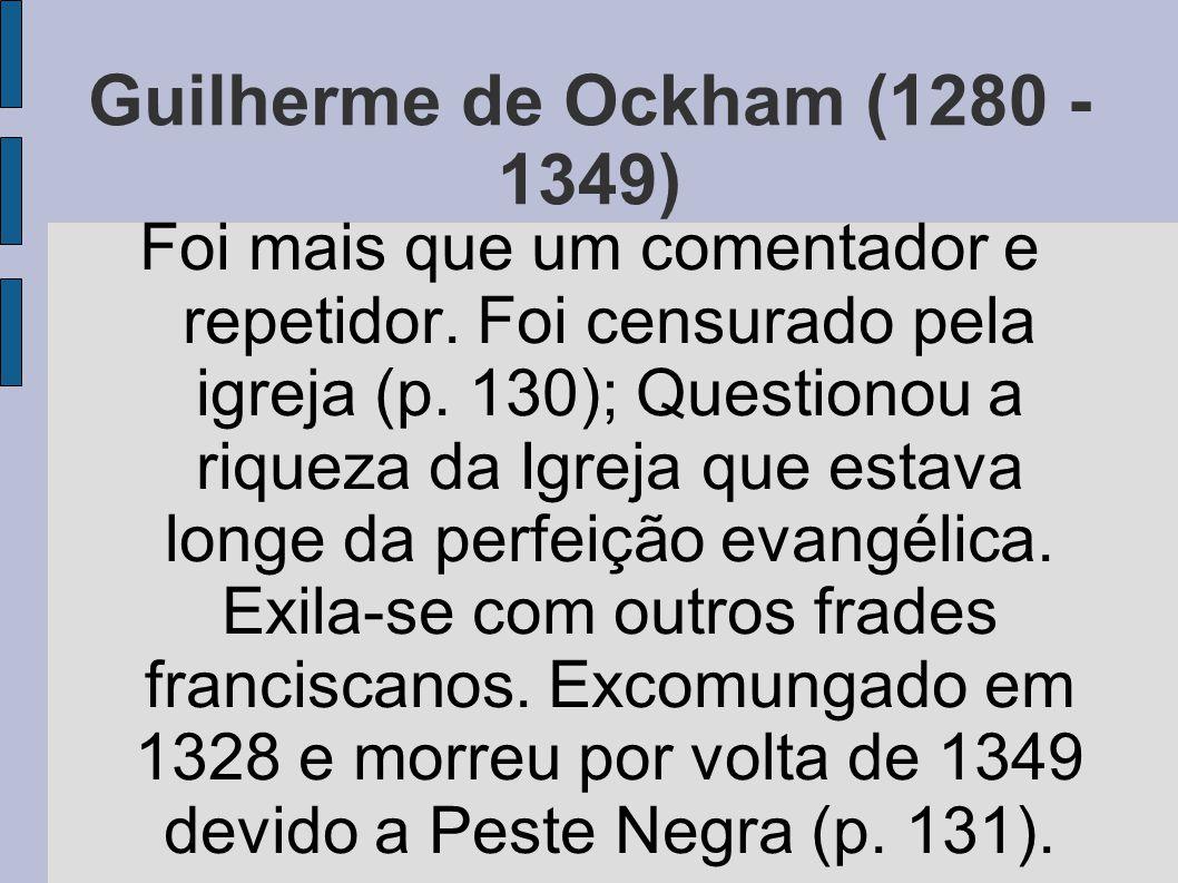 Guilherme de Ockham (1280 - 1349)