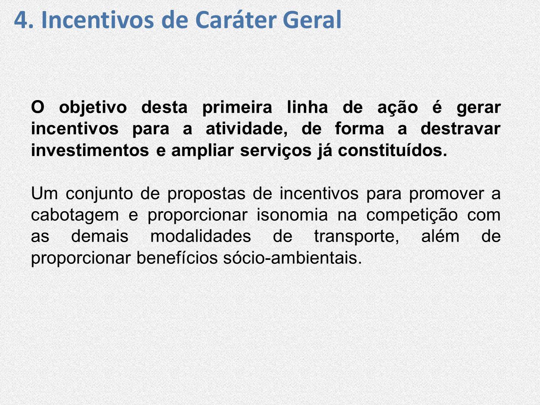 4. Incentivos de Caráter Geral