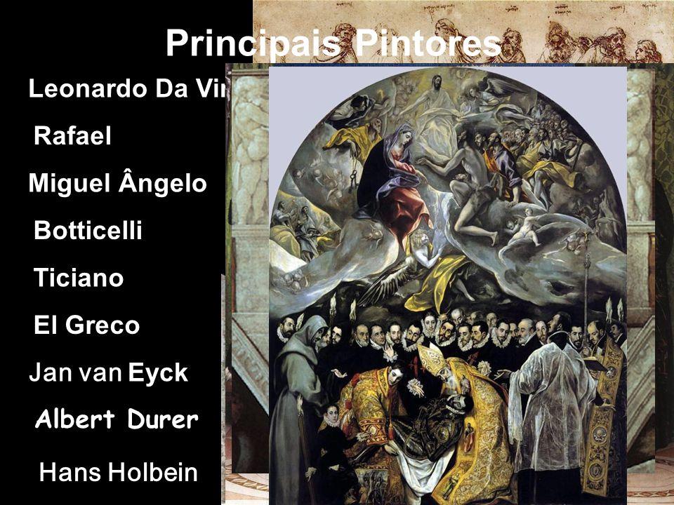 Principais Pintores Leonardo Da Vinci Rafael Miguel Ângelo Botticelli
