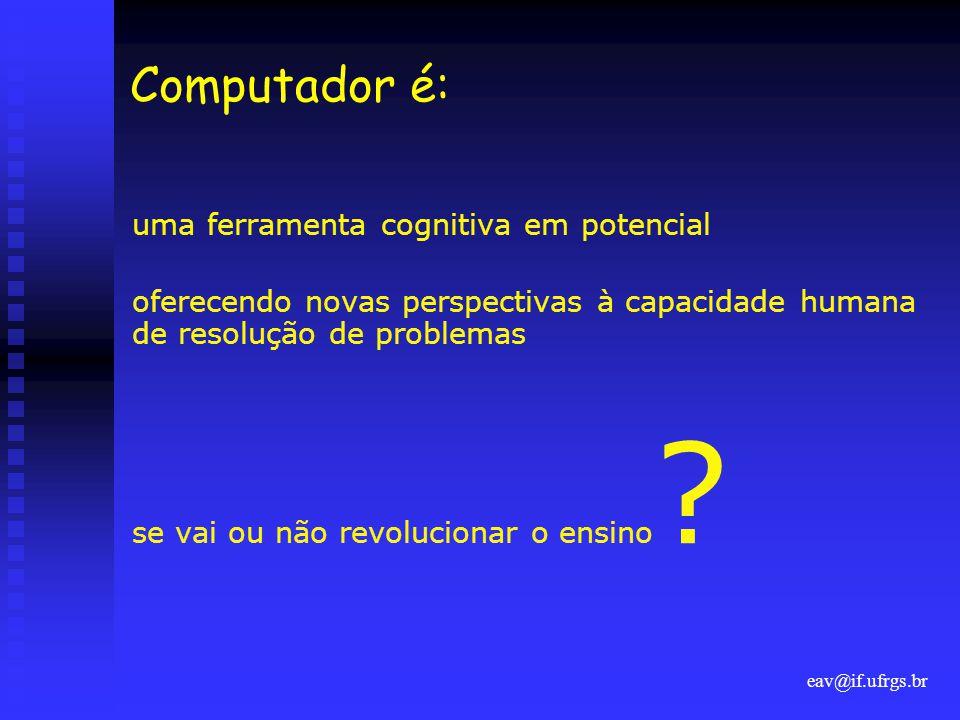 Computador é: uma ferramenta cognitiva em potencial