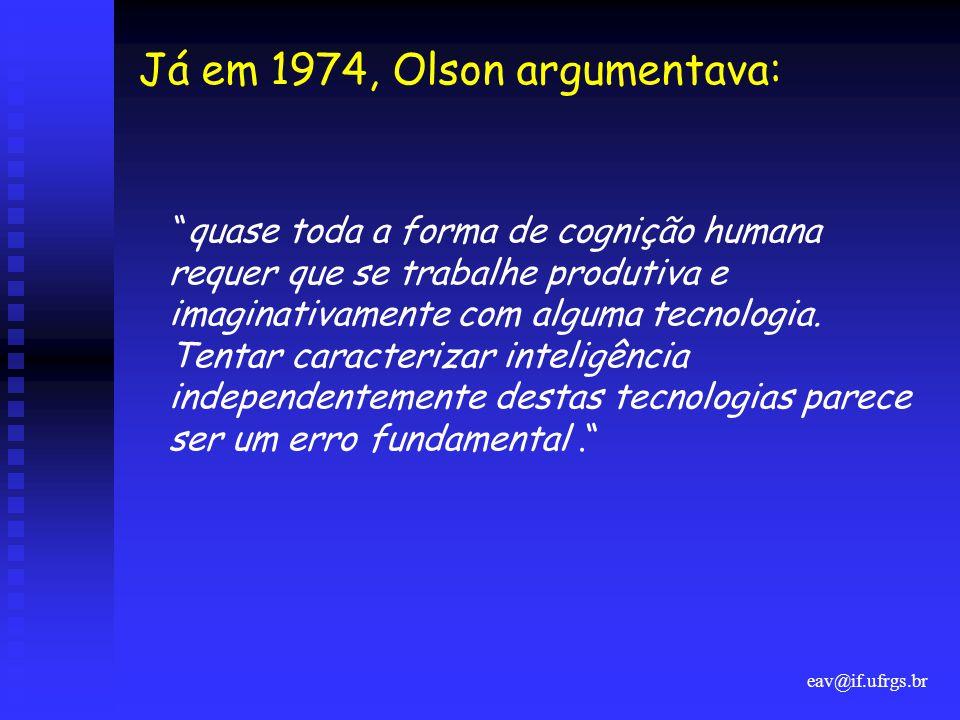 Já em 1974, Olson argumentava: