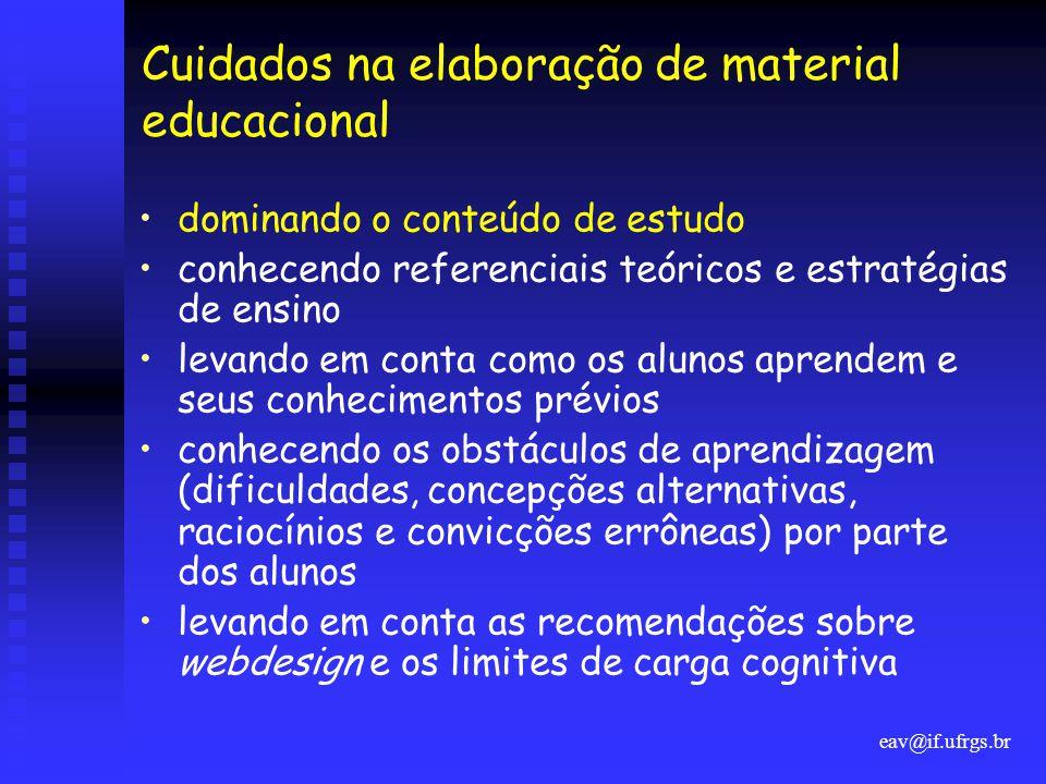 Cuidados na elaboração de material educacional