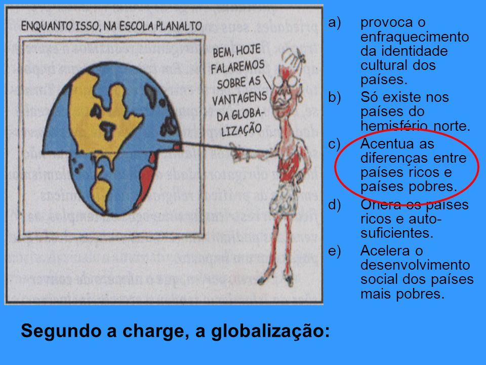 Segundo a charge, a globalização: