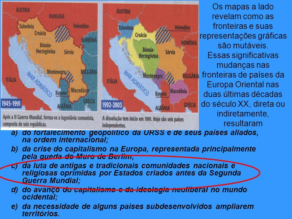 Os mapas a lado revelam como as fronteiras e suas representações gráficas são mutáveis.
