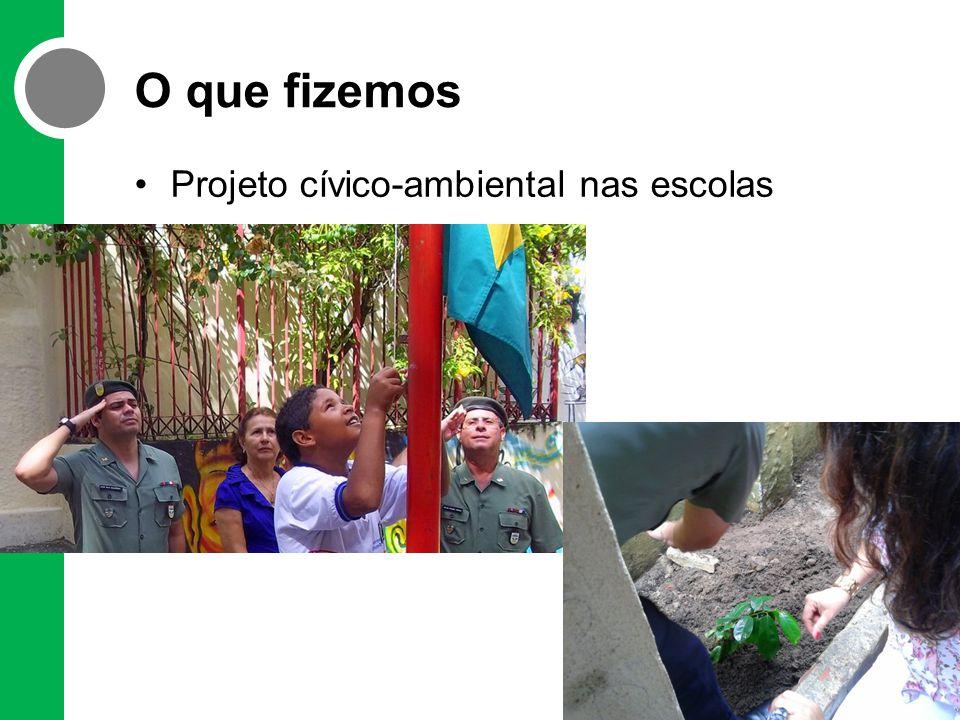 O que fizemos Projeto cívico-ambiental nas escolas