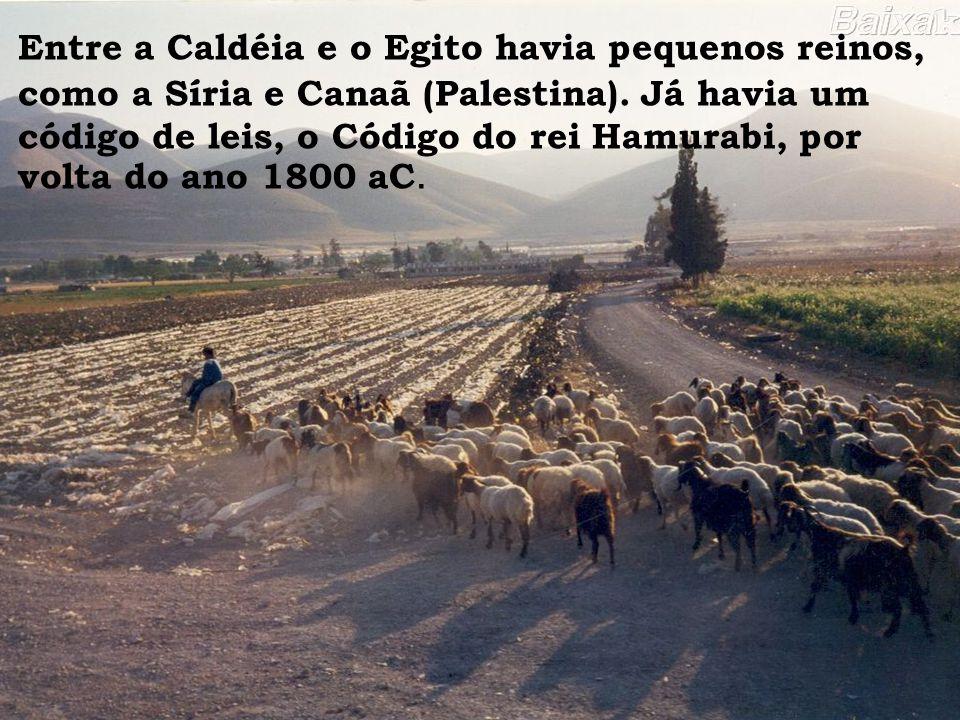 Entre a Caldéia e o Egito havia pequenos reinos, como a Síria e Canaã (Palestina).
