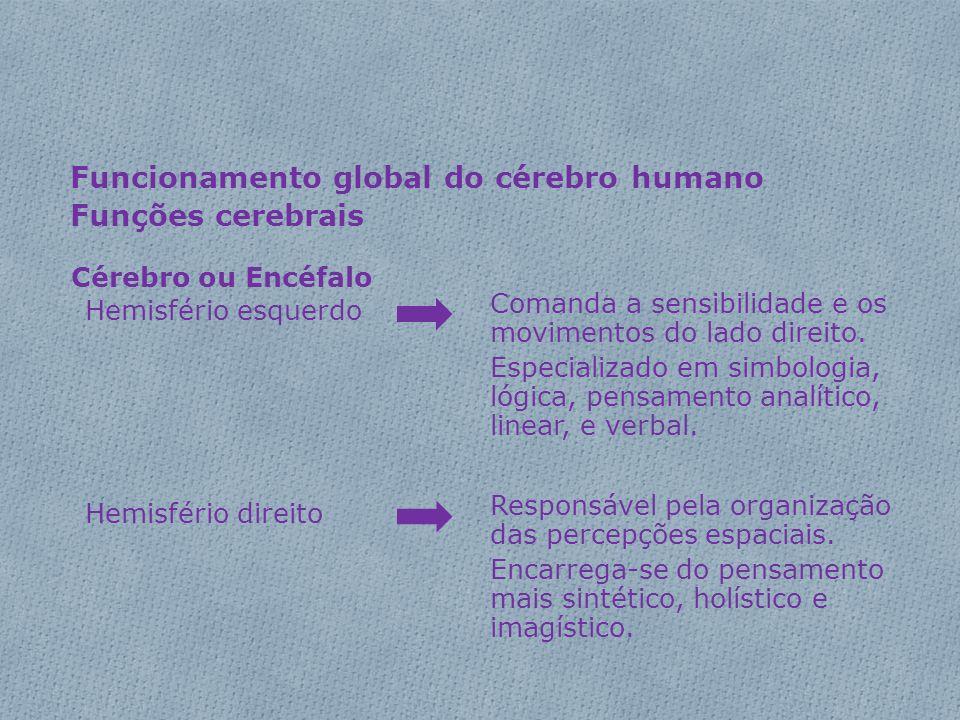 Funcionamento global do cérebro humano Funções cerebrais
