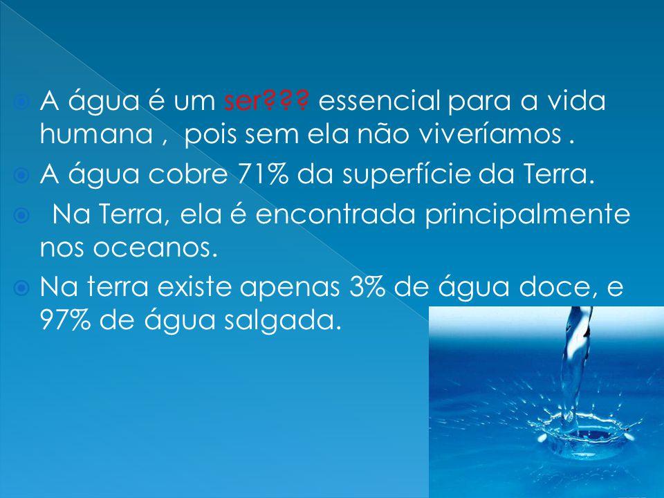 A água é um ser essencial para a vida humana , pois sem ela não viveríamos .