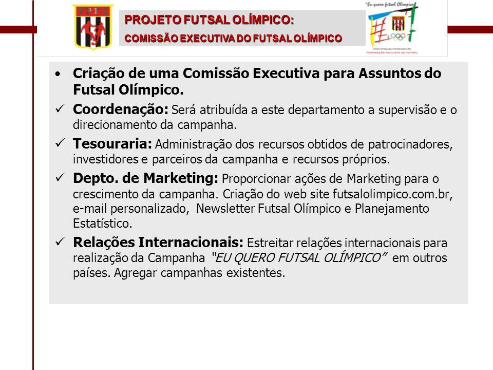 Criação de uma Comissão Executiva para Assuntos do Futsal Olímpico.