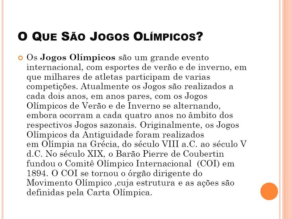 O Que São Jogos Olímpicos