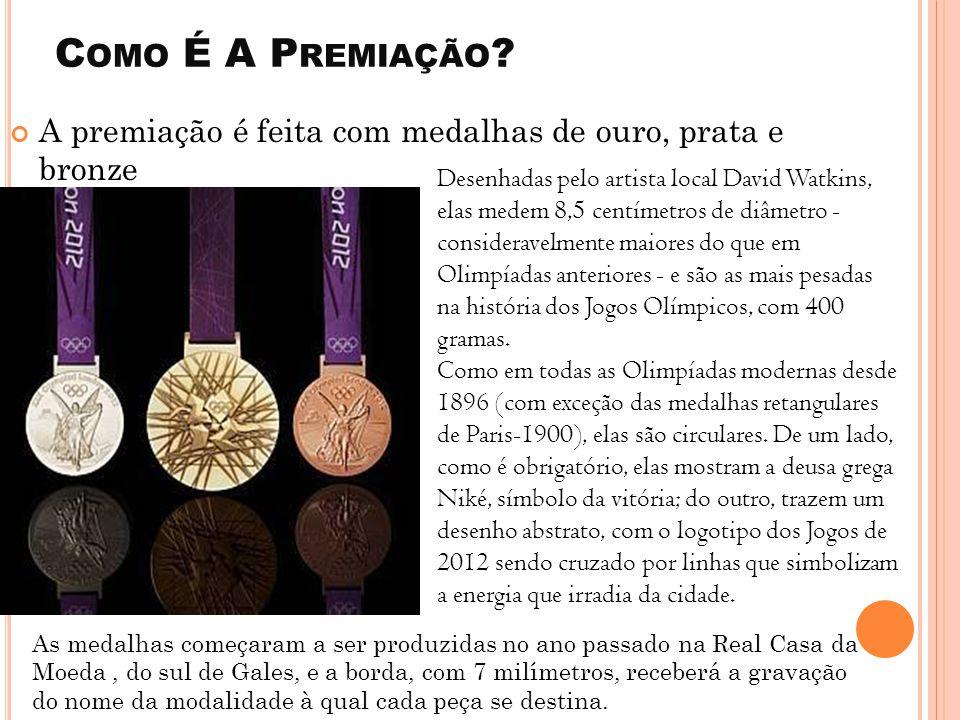 Como É A Premiação A premiação é feita com medalhas de ouro, prata e bronze.