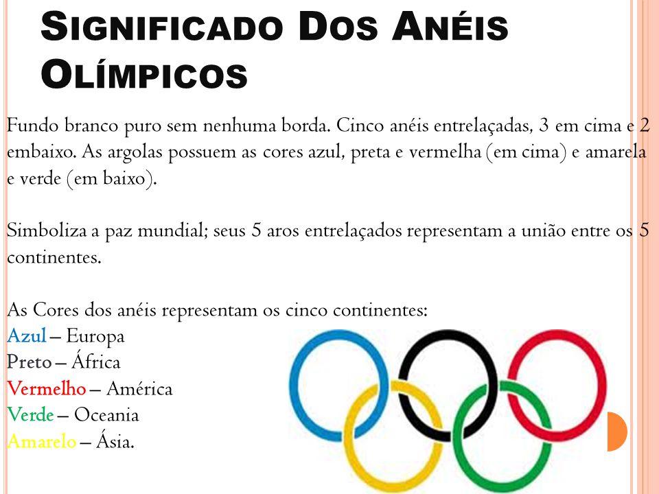 Significado Dos Anéis Olímpicos