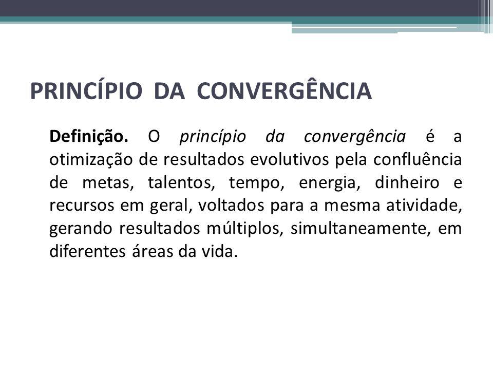PRINCÍPIO DA CONVERGÊNCIA