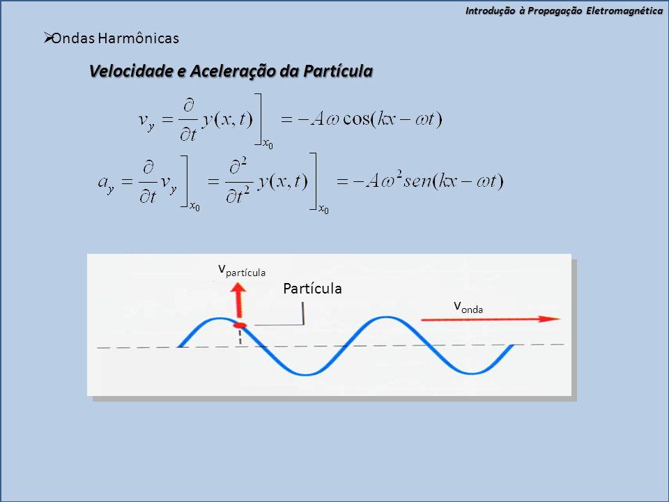 Velocidade e Aceleração da Partícula