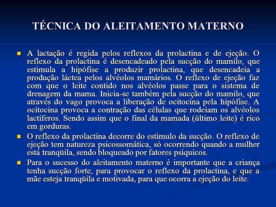 TÉCNICA DO ALEITAMENTO MATERNO