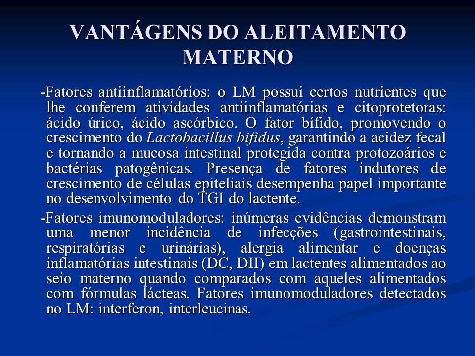 VANTÁGENS DO ALEITAMENTO MATERNO