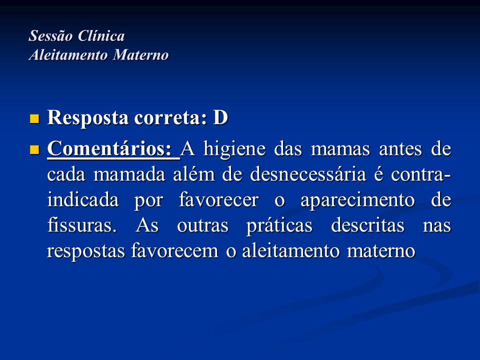 Sessão Clínica Aleitamento Materno