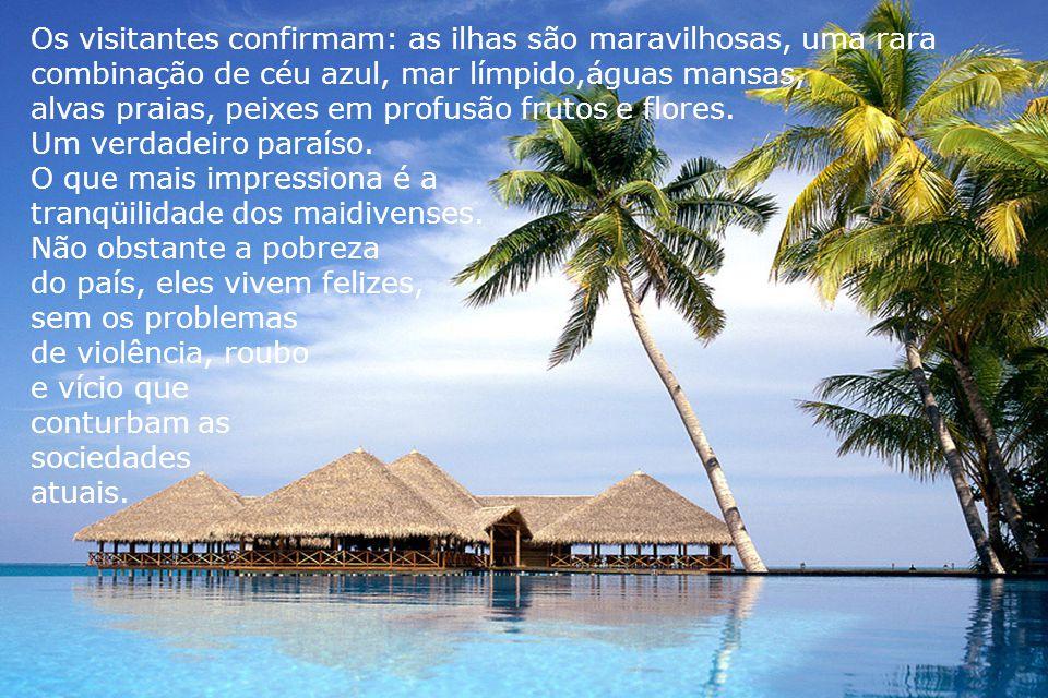 Os visitantes confirmam: as ilhas são maravilhosas, uma rara