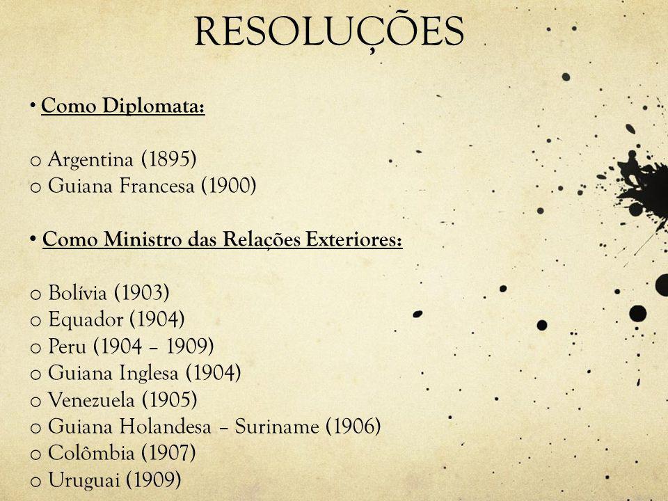 RESOLUÇÕES Argentina (1895) Guiana Francesa (1900)