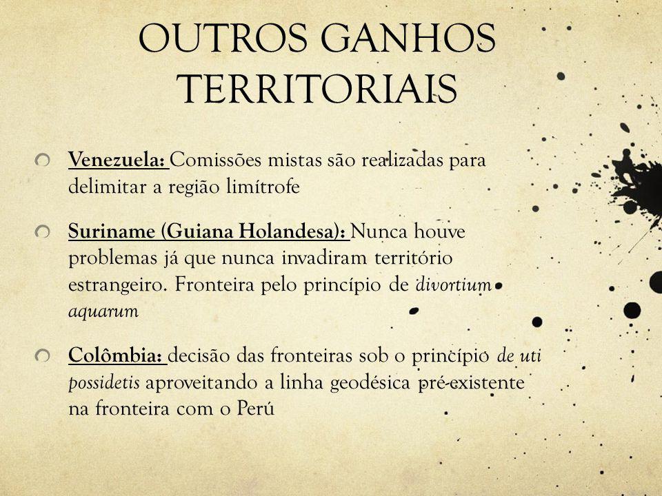 OUTROS GANHOS TERRITORIAIS