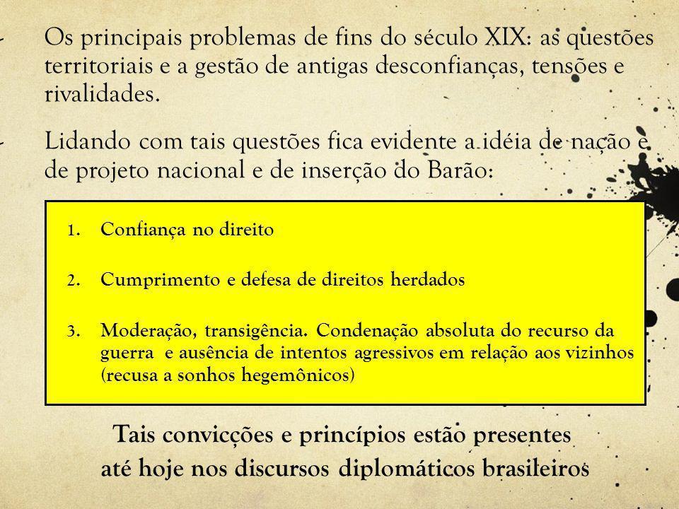 até hoje nos discursos diplomáticos brasileiros