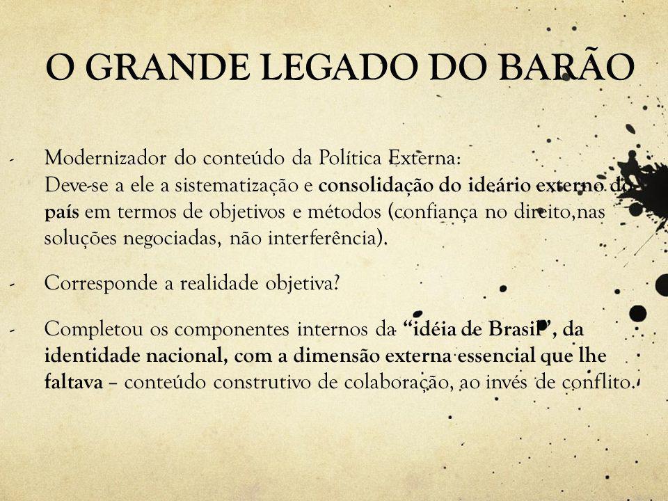 O GRANDE LEGADO DO BARÃO