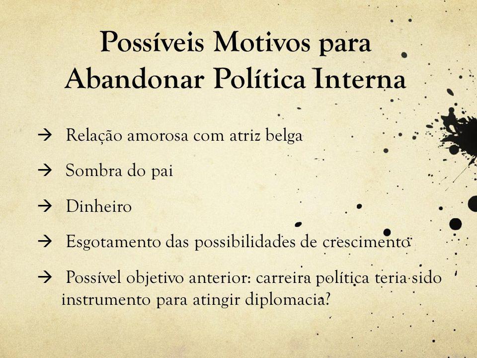 Possíveis Motivos para Abandonar Política Interna