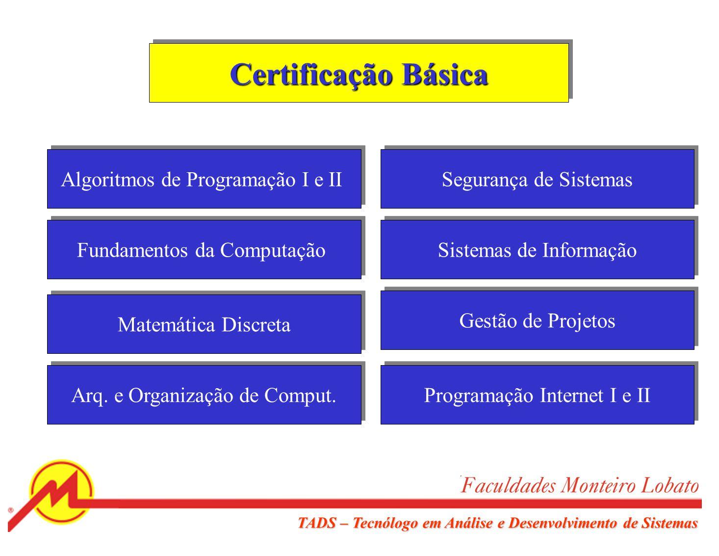 Certificação Básica Algoritmos de Programação I e II