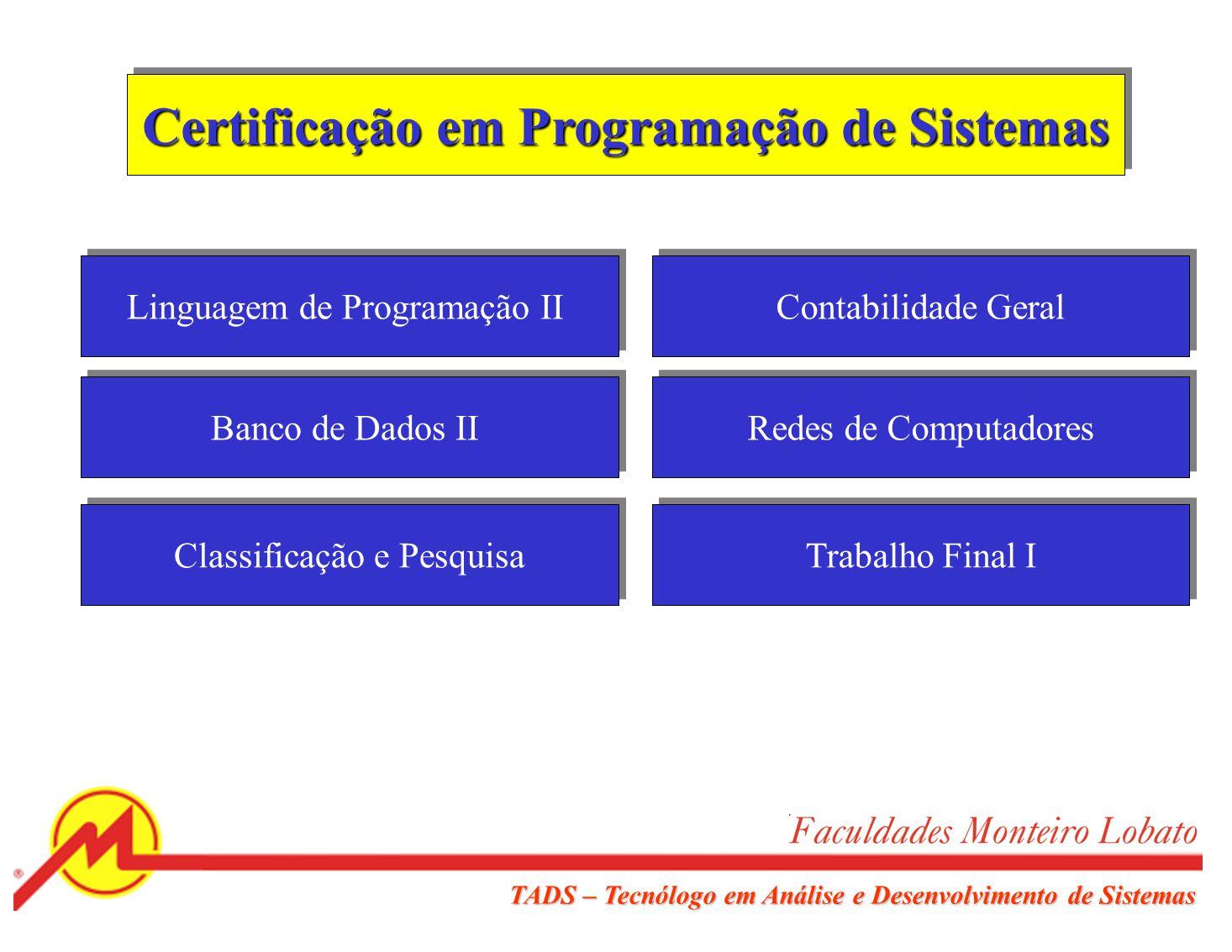 Certificação em Programação de Sistemas