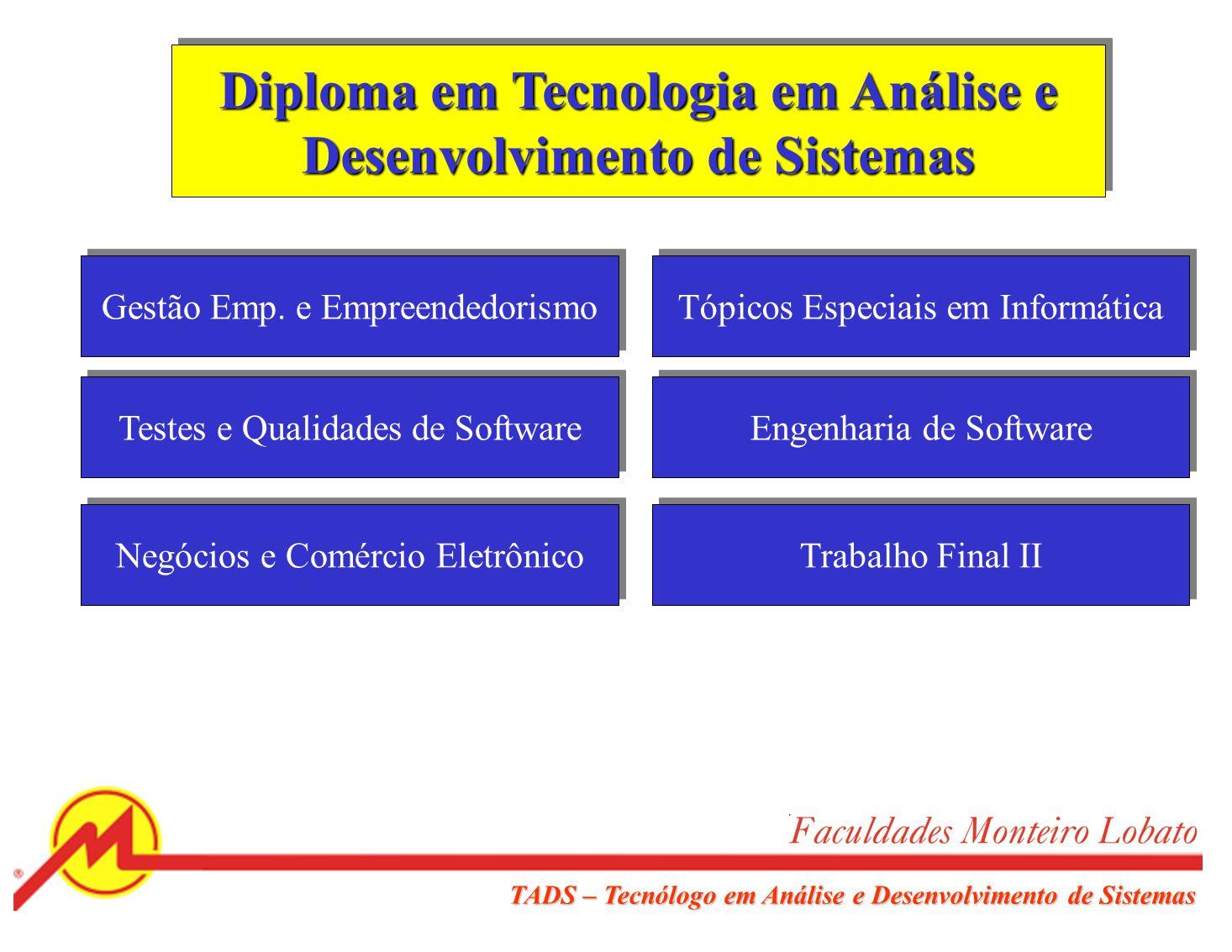 Diploma em Tecnologia em Análise e Desenvolvimento de Sistemas