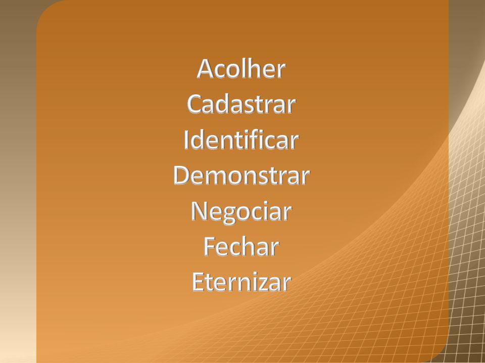 Acolher Cadastrar Identificar Demonstrar Negociar Fechar Eternizar