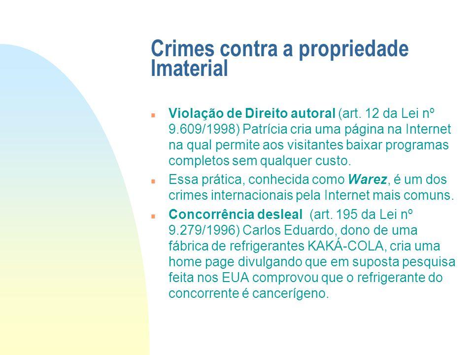 Crimes contra a propriedade Imaterial