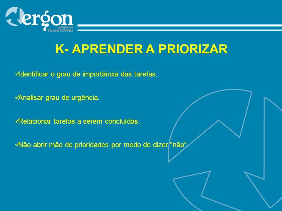 K- APRENDER A PRIORIZAR