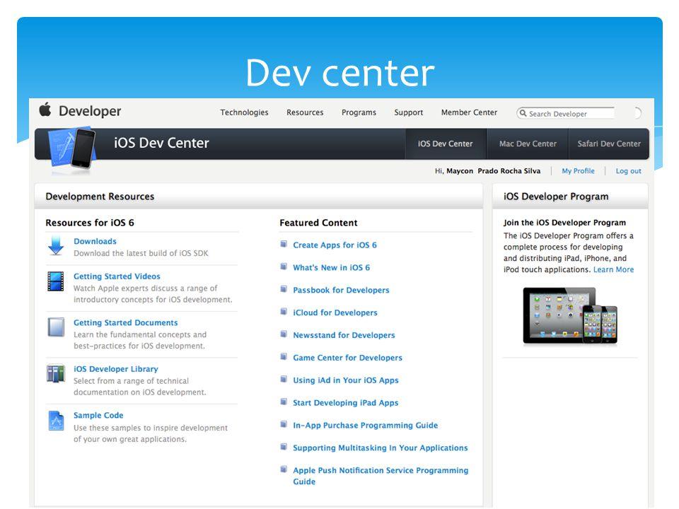 Dev center