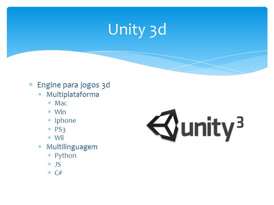 Unity 3d Engine para jogos 3d Multiplataforma Multilinguagem Mac Win