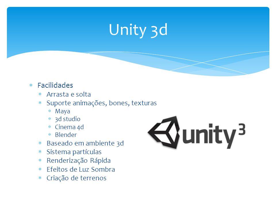 Unity 3d Facilidades Arrasta e solta