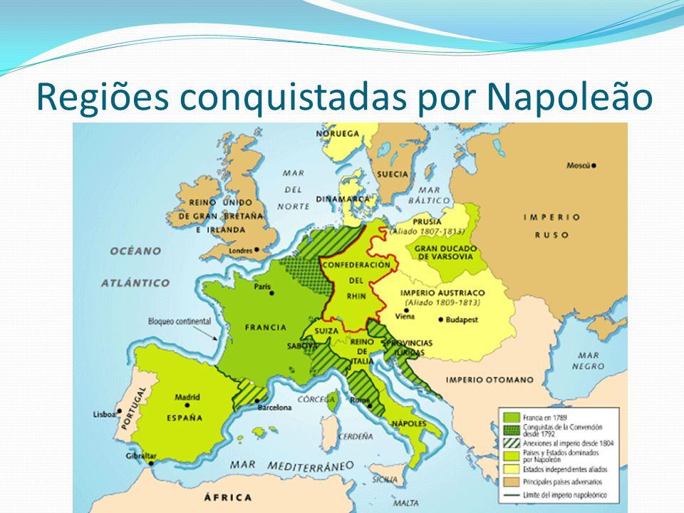 Regiões conquistadas por Napoleão
