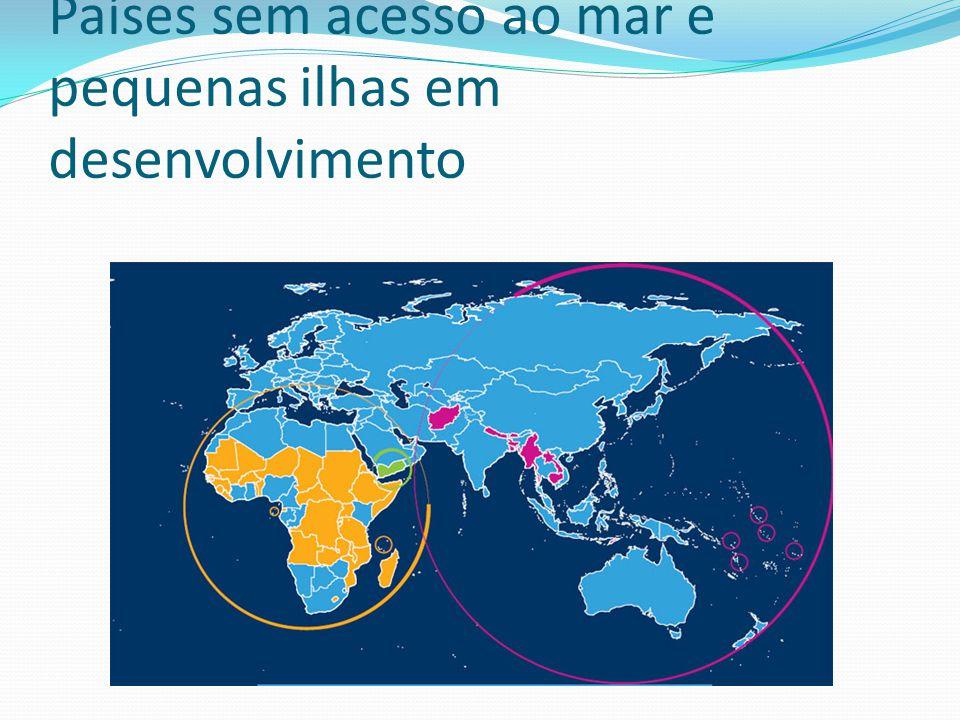 Países sem acesso ao mar e pequenas ilhas em desenvolvimento